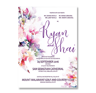 WaterColor Mixed Flowers POBLACION, LIPA WEDDING INVITATION